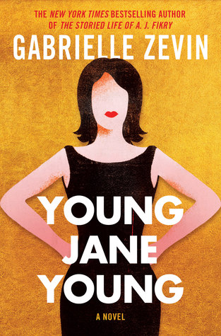 Young Jane Young Book Cover-Woman in black dress in front of yellow background