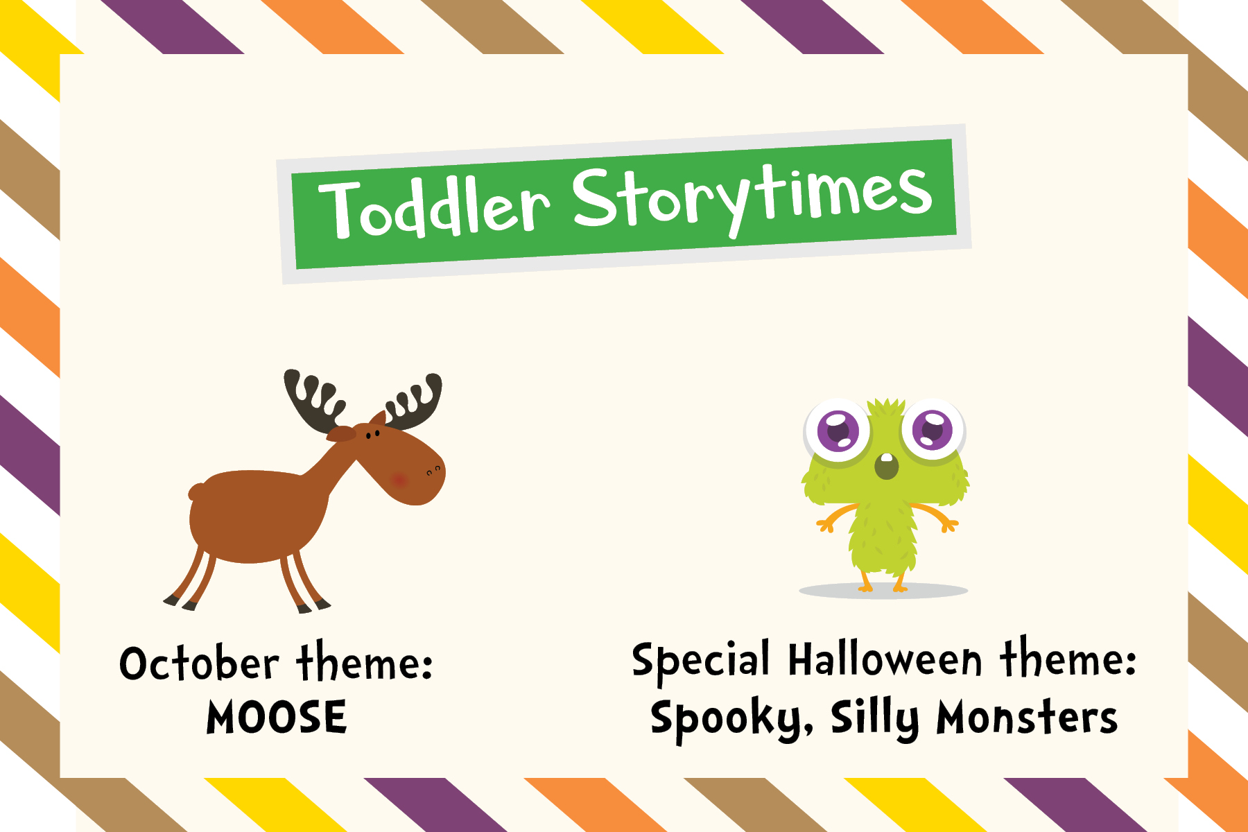 Toddler_moose and silly spooky monsters