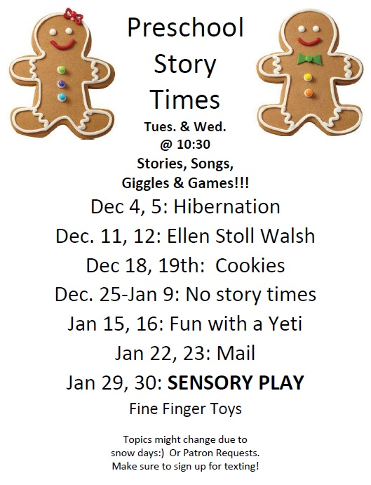 December and January Preschool Story Time