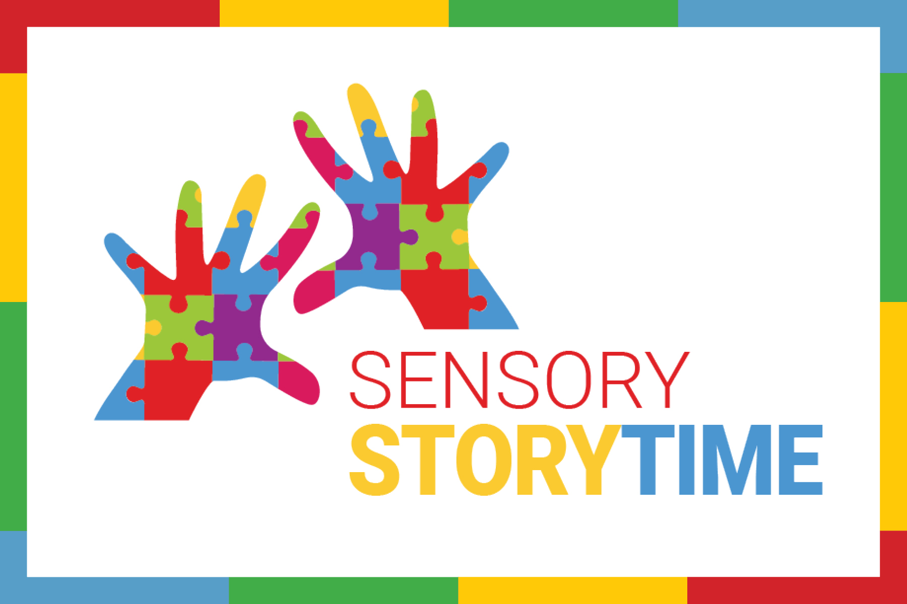 Sensory storytime with hands made from puzzle pieces