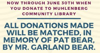 Please Support Muhlenberg Community Library