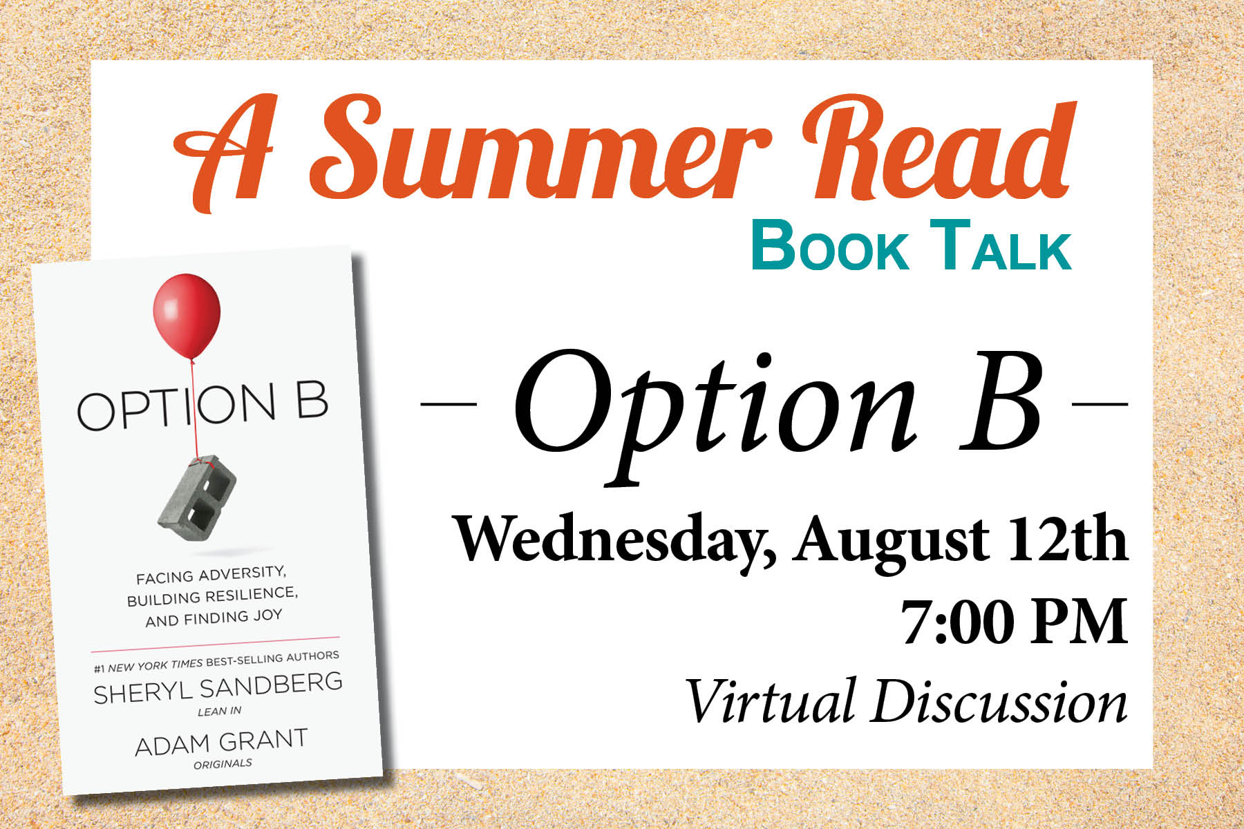 Option B Summer Read Discussion