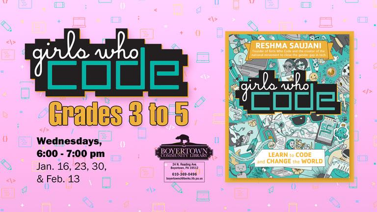 Girls who Code Club for grades 3 to 5   Berks County Public