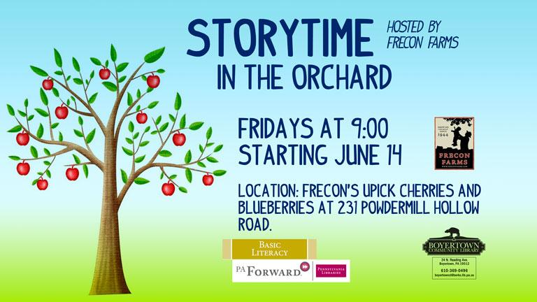 Storytime in the Orchard