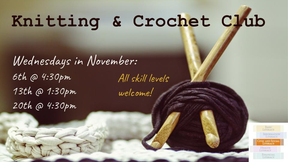 knitting and crochet club