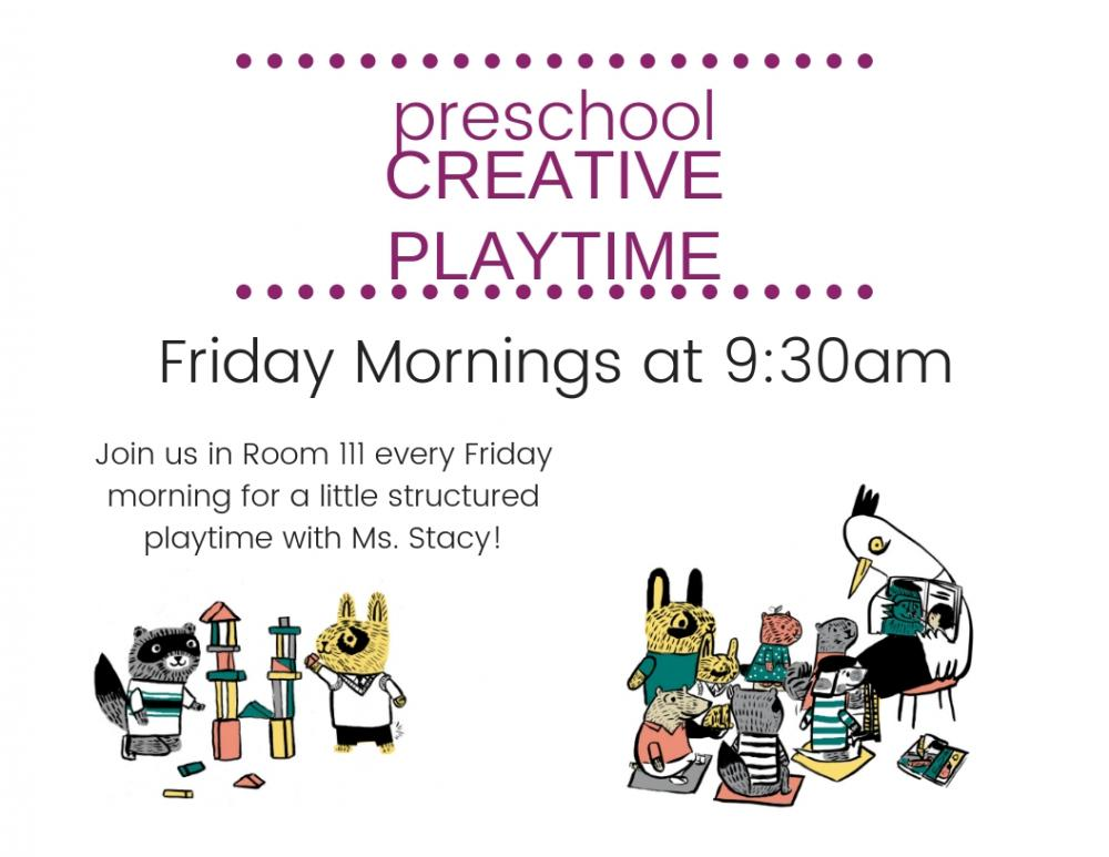 Preschool Creative Playtime