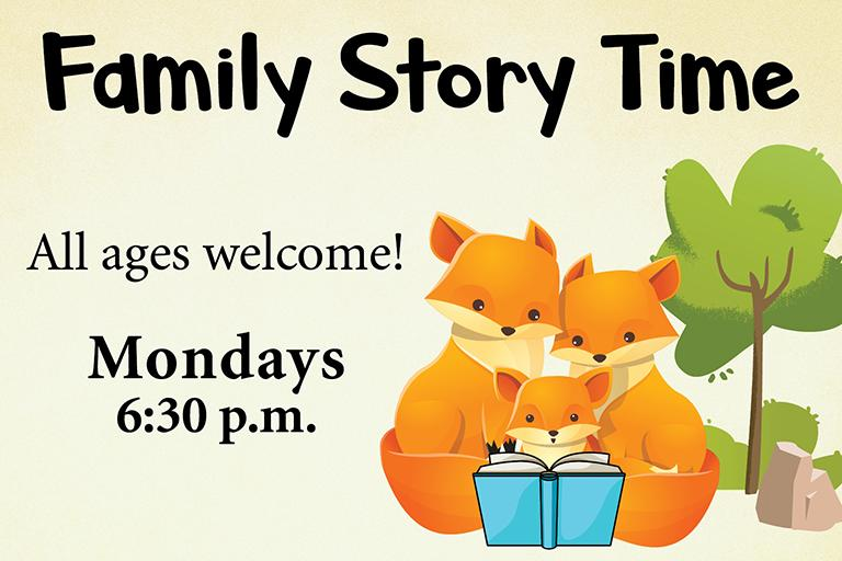 Family Story Time 6:30pm Mondays