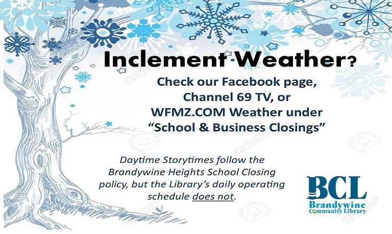 inclement weather informational graphic