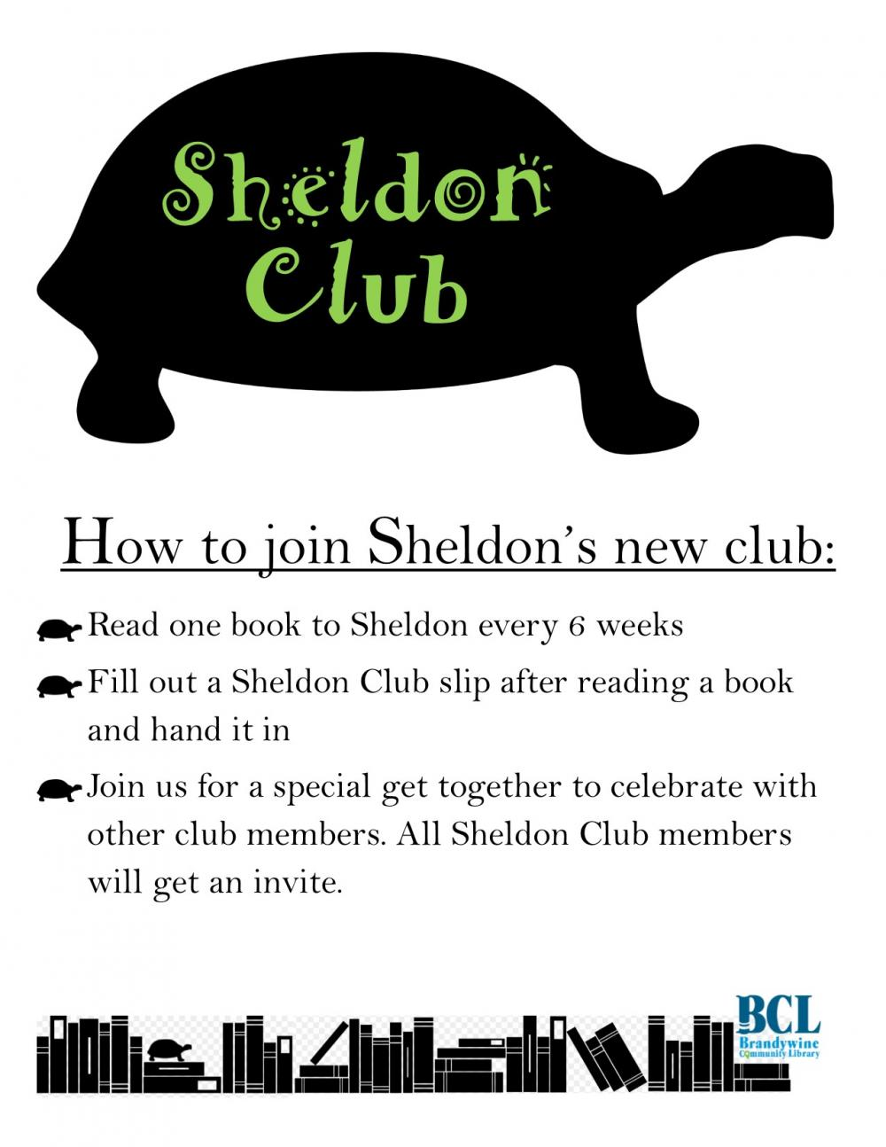 read to Sheldon and join his club