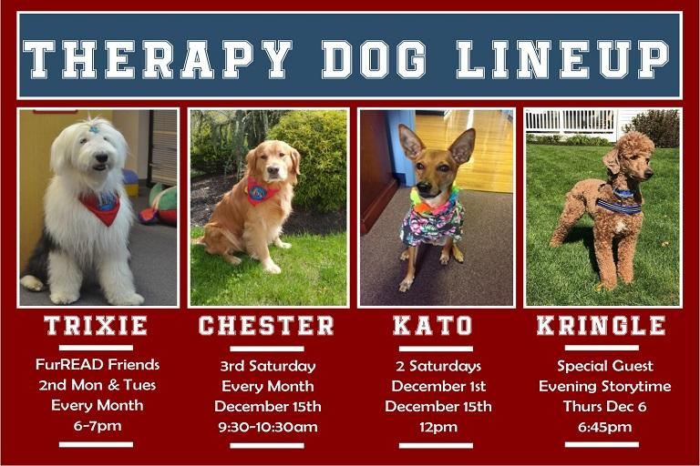 Chester the Therapy Dog Visit