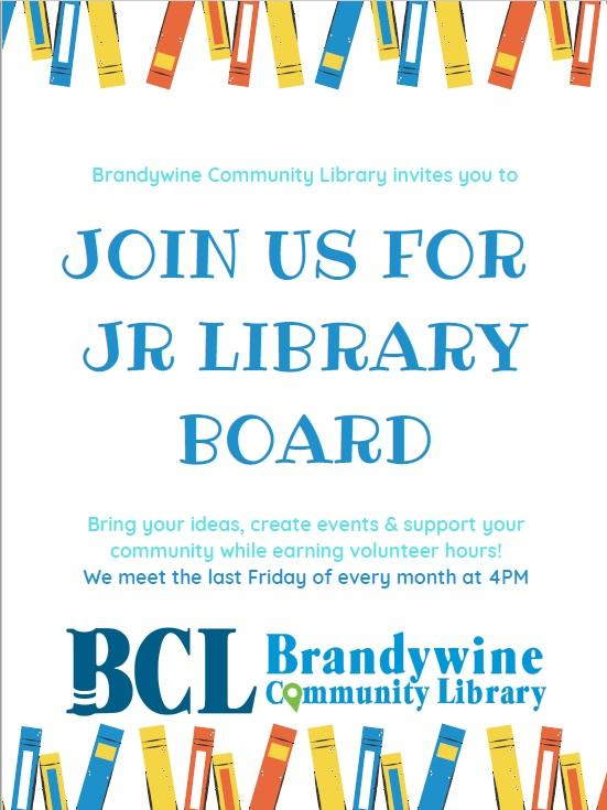jr library board meets the last Friday of the month from 4-5 pm