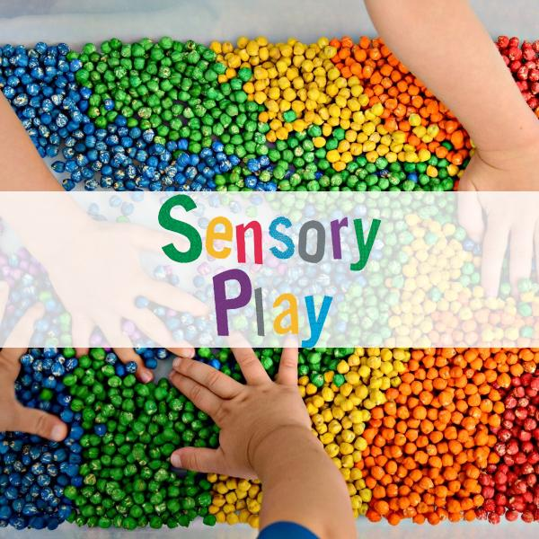 Bubbles and books- sensory play day