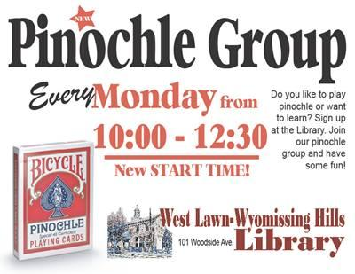 Pinochle at Mondays 10am