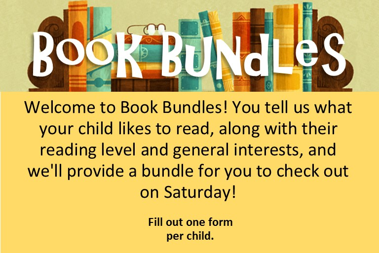 book bundles for kids now available, fill out the form in the link