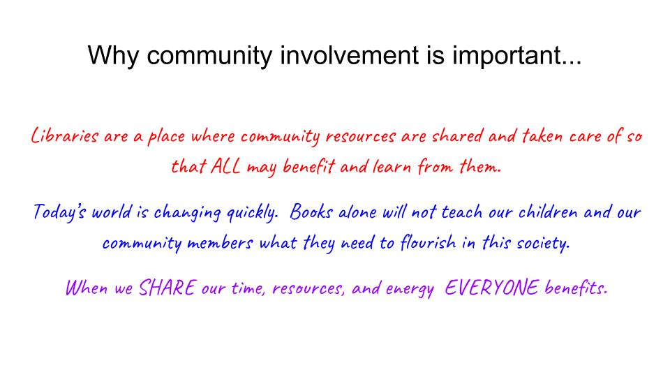 Why community involvement is so important
