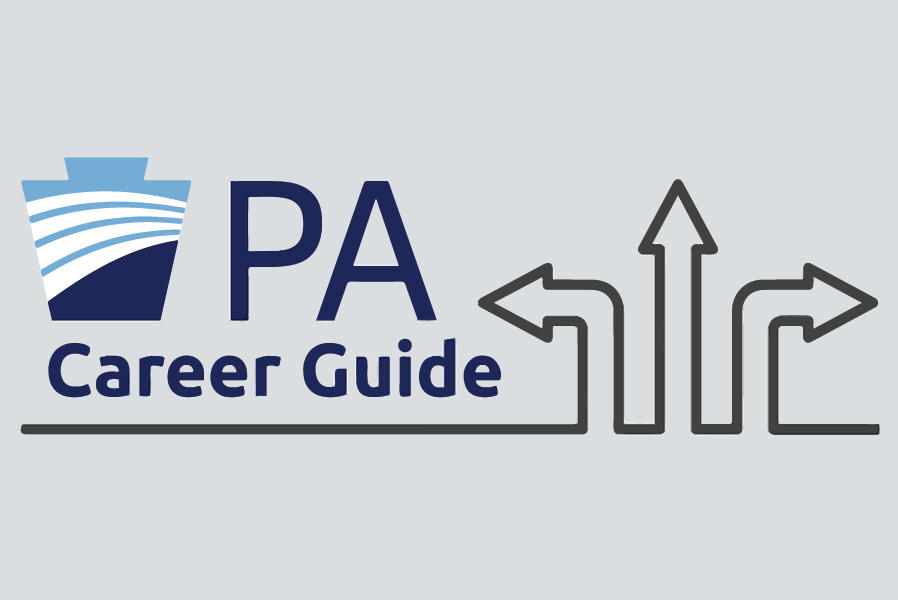 line arrows with PA logo