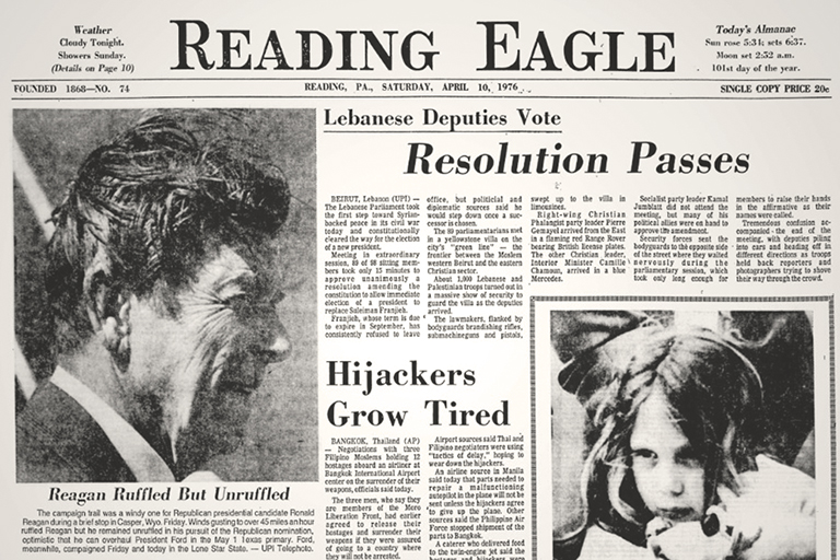 Old Reading Eagle Newspaper