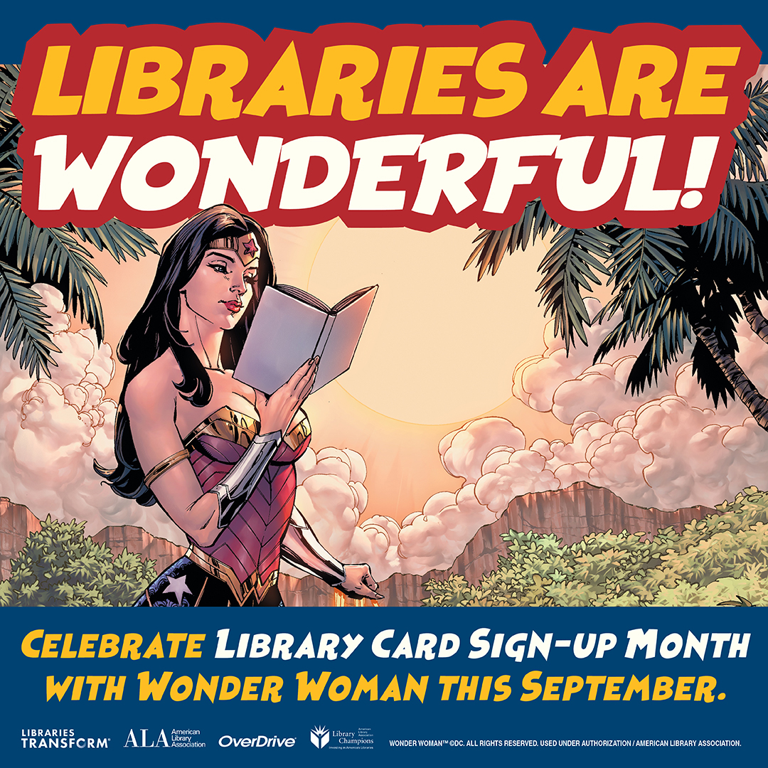 Library Card Month Wonder Woman