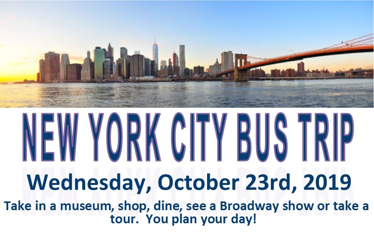 New York City Bus Trip OCtober 23rd