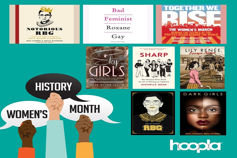 Hoopla Women's History Month Banner