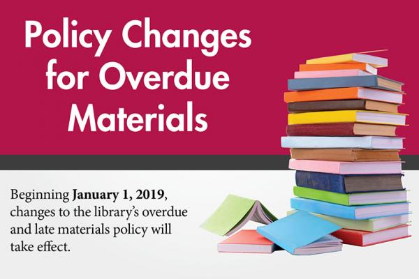 Policy Changes for Overdue Materials
